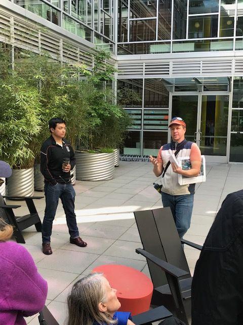 Aaron Swain leading a tour photo