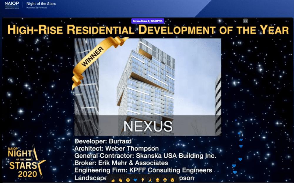 Photo of Nexus NAIOP Award win