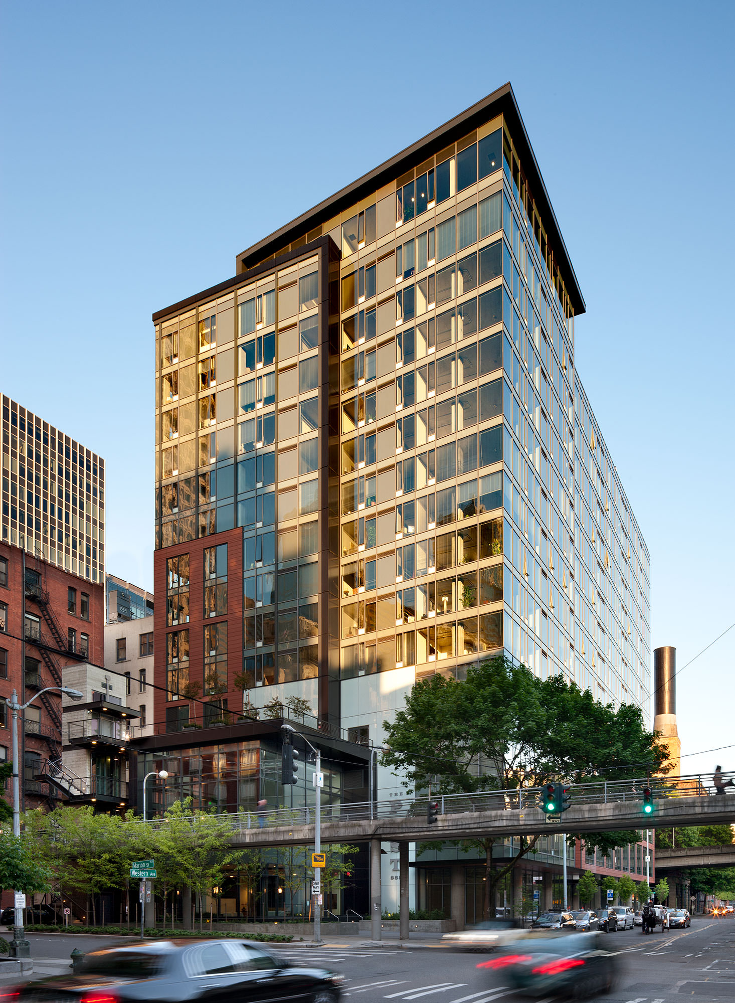 The Post residential tower in Pioneer Square