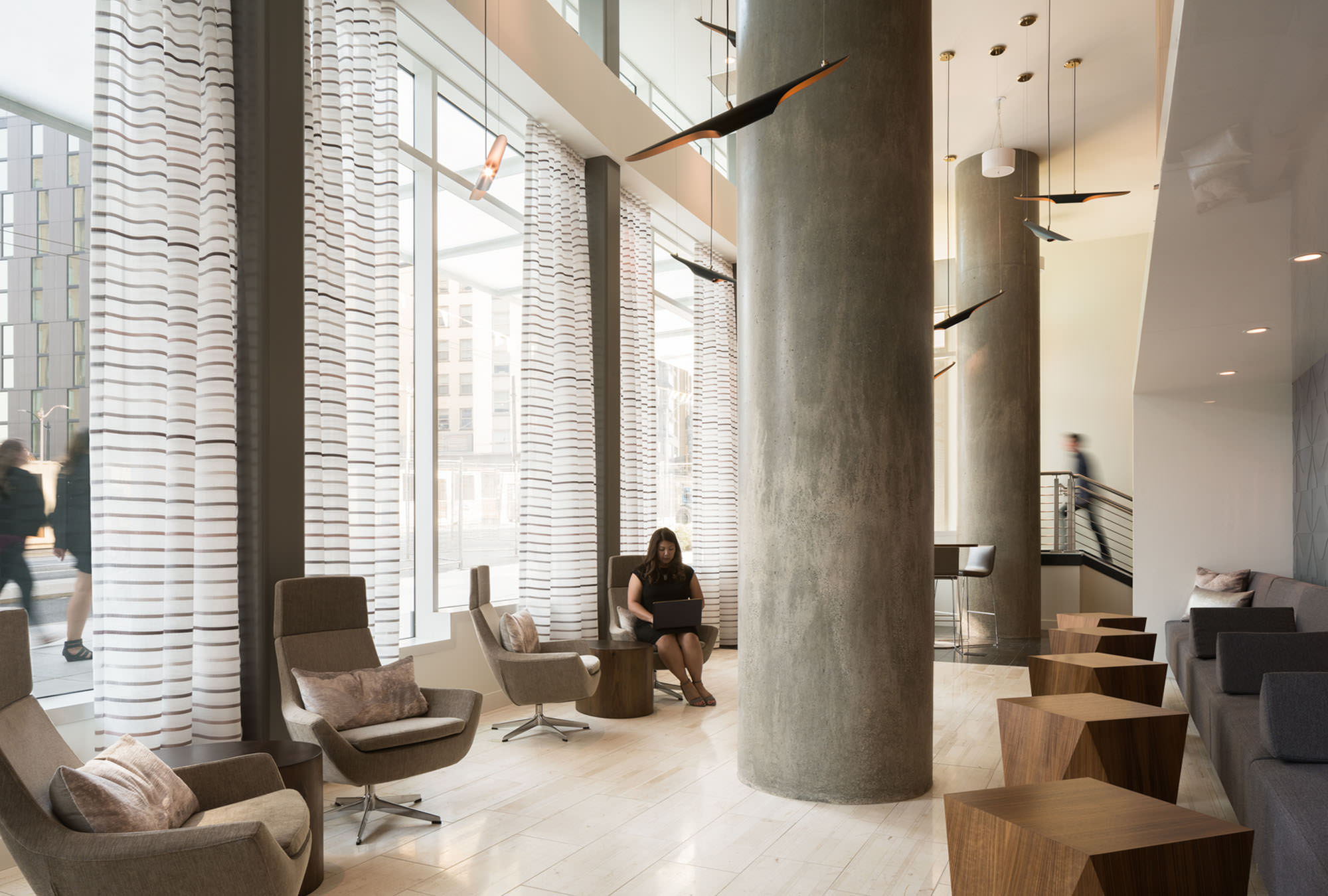 Helios double height entry lounge