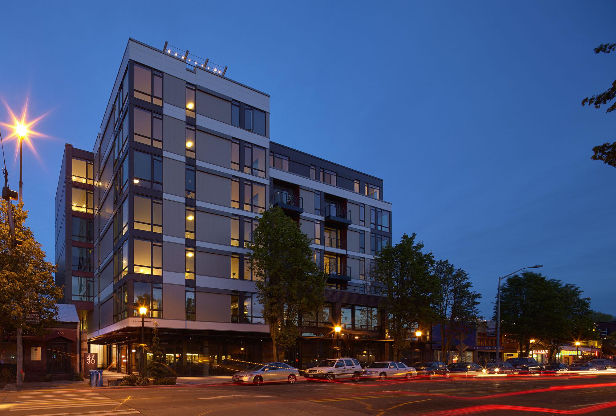 West Seattle apartment building.