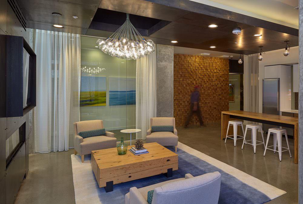 4730 California lobby amenity space