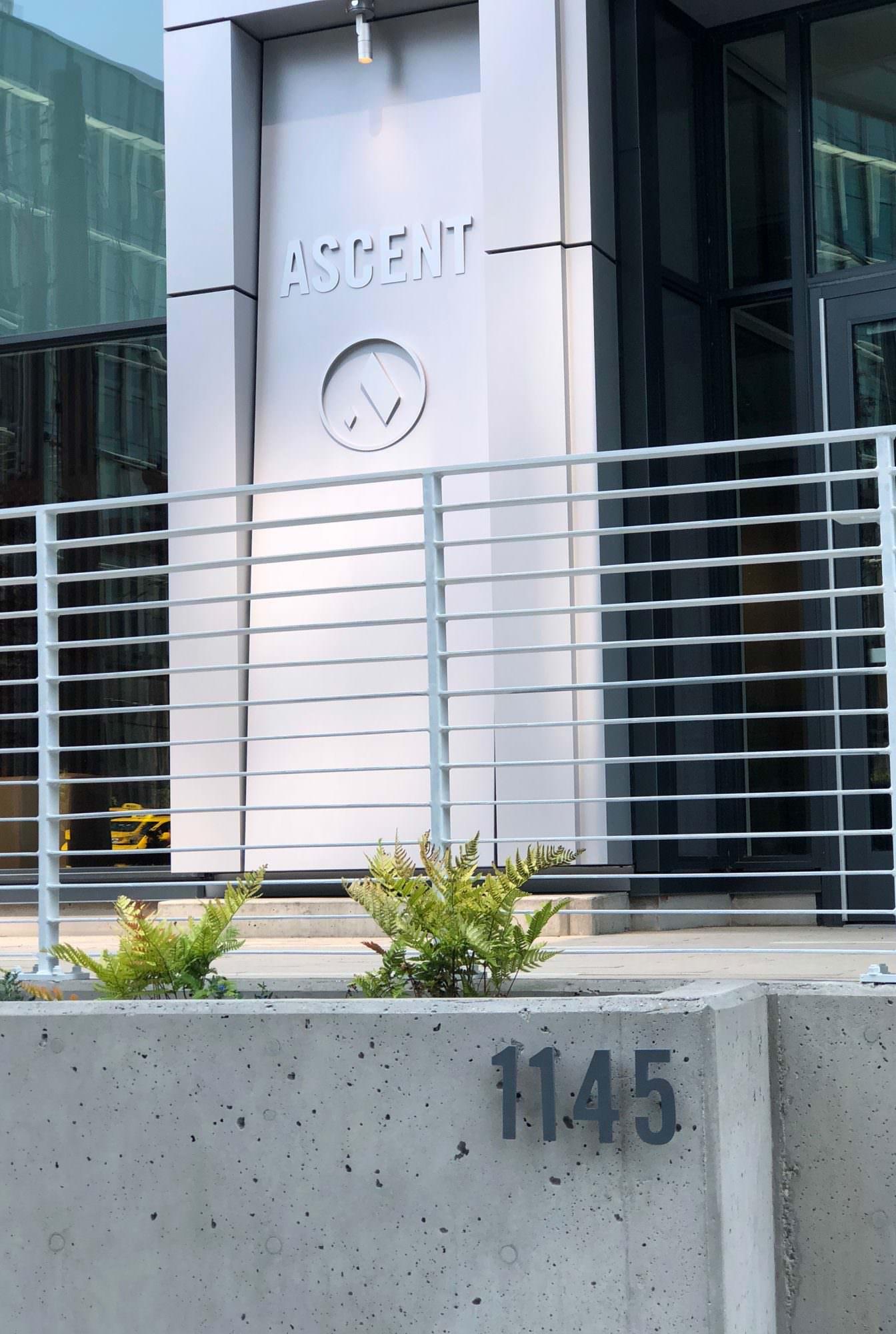 Ascent exterior signage