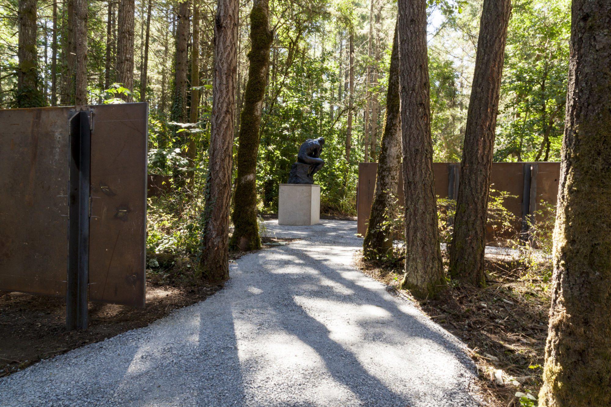 Rodin sculpture at the LeMay Sculpture Garden