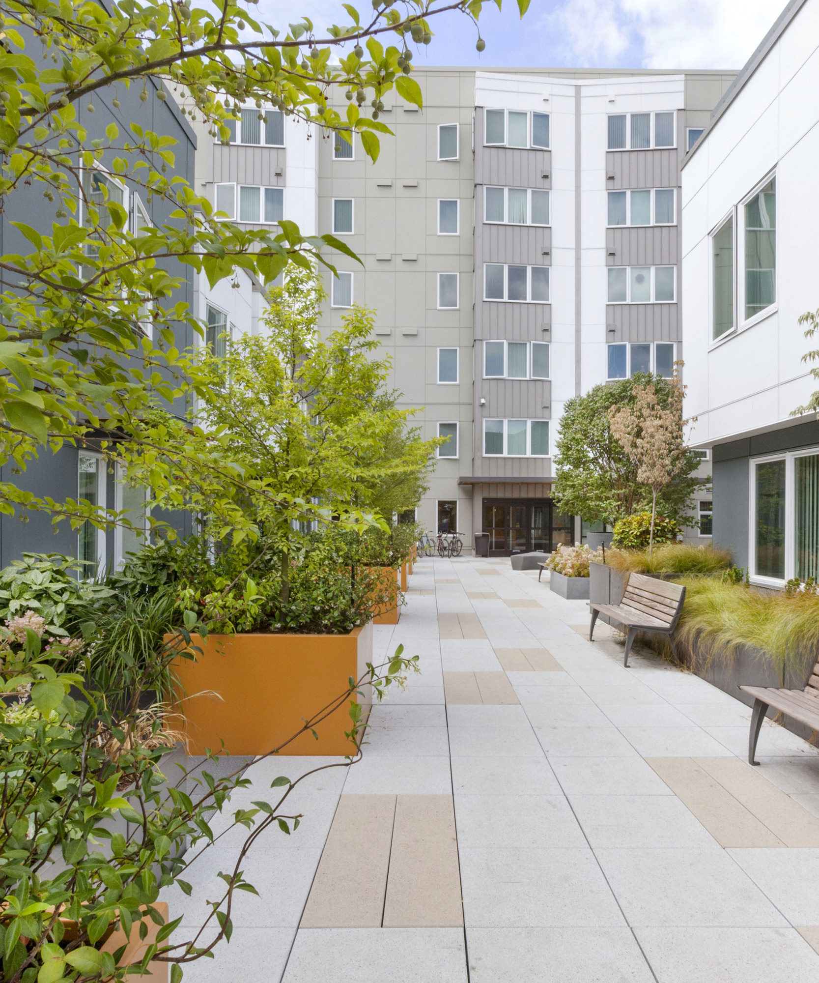 Raven Terrace courtyard