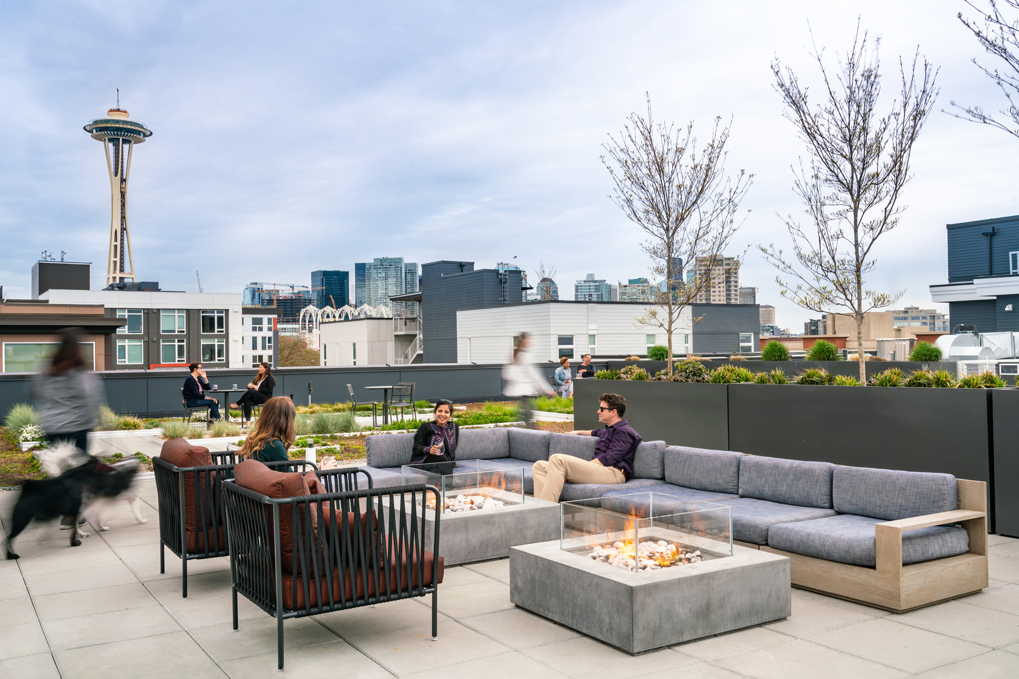 The roofdeck at Elan Uptown Flats